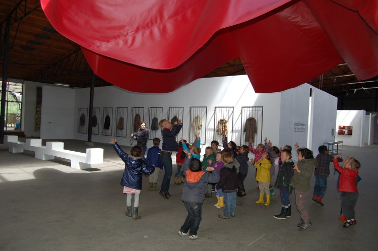 Kids Dancing under Poppy at Verbeke Foundation